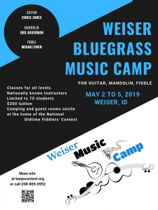 Weiser Bluegrass Music Camp @ Slocum Hall in Weiser, ID | Weiser | Idaho | United States